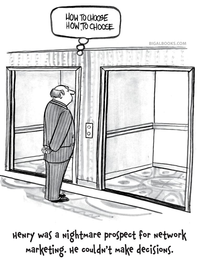 Network Marketing Humor: Nightmare prospect